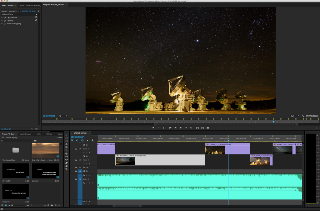 "Editing ""the Watchers"" in Premiere Pro"